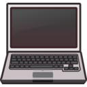 download White Laptop Notebook Netbook clipart image with 135 hue color
