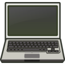 download White Laptop Notebook Netbook clipart image with 225 hue color