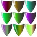 download Shields clipart image with 45 hue color
