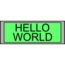 download Digital Display With Hello World Text clipart image with 45 hue color