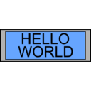 download Digital Display With Hello World Text clipart image with 135 hue color