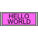 download Digital Display With Hello World Text clipart image with 225 hue color