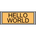 download Digital Display With Hello World Text clipart image with 315 hue color