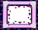 Pink Purple Heart Frame