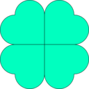 download Four Leaf Clover clipart image with 45 hue color