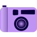 download Camera clipart image with 225 hue color