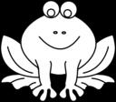 Frog Line Art