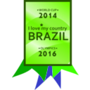 download Brazil 2014 2016 Medal clipart image with 45 hue color
