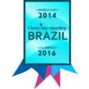 download Brazil 2014 2016 Medal clipart image with 135 hue color