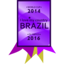 download Brazil 2014 2016 Medal clipart image with 225 hue color