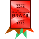 download Brazil 2014 2016 Medal clipart image with 315 hue color