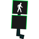download Crosswalk Signal clipart image with 90 hue color