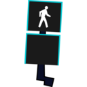 download Crosswalk Signal clipart image with 135 hue color