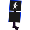 download Crosswalk Signal clipart image with 180 hue color