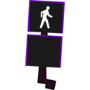 download Crosswalk Signal clipart image with 225 hue color