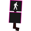 download Crosswalk Signal clipart image with 270 hue color