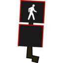 download Crosswalk Signal clipart image with 315 hue color