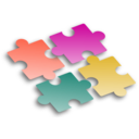 download Jigsaw Puzzle 2 clipart image with 315 hue color