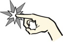 Hand Pointing At Star