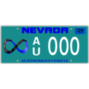 download Vehicle Registration Plate With Screws clipart image with 180 hue color