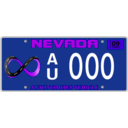 download Vehicle Registration Plate With Screws clipart image with 225 hue color