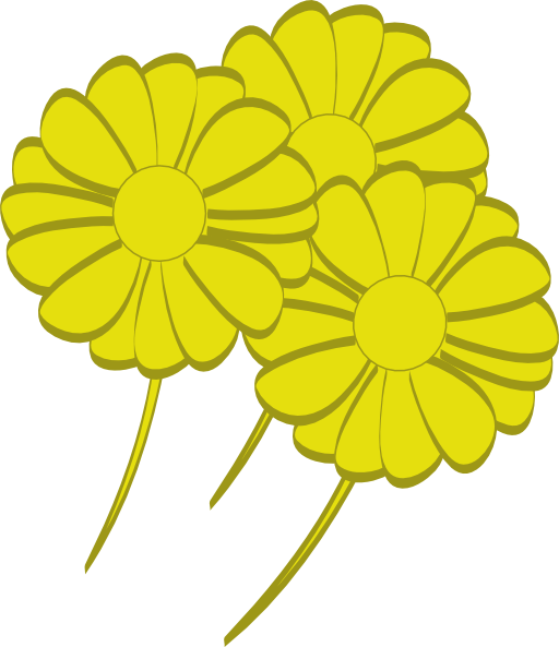Yellow Flowers Clipart I2clipart Royalty Free Public Domain Clipart