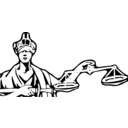 download Blind Justice clipart image with 135 hue color