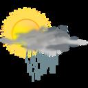 Weather Icon Sun Rain