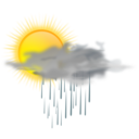 Weather Icon Sun Rain