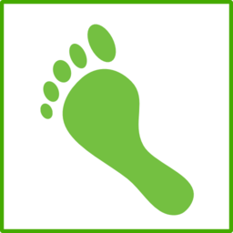 eco green carbon footprint icon clipart i2clipart human footprint clipart free free footprint clipart images