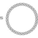 download Rope Border Circle clipart image with 225 hue color