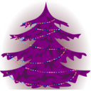 download Christmas Tree clipart image with 180 hue color