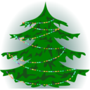 download Christmas Tree clipart image with 0 hue color