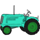 download Tractor clipart image with 135 hue color