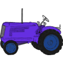 download Tractor clipart image with 225 hue color