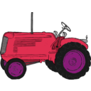 download Tractor clipart image with 315 hue color