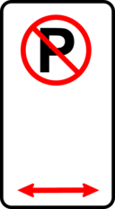 Sign No Parking Zone