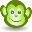 download Funny Monkey Face clipart image with 45 hue color