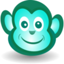 download Funny Monkey Face clipart image with 135 hue color