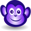 download Funny Monkey Face clipart image with 225 hue color