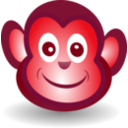 download Funny Monkey Face clipart image with 315 hue color
