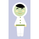 download Inuit Girl clipart image with 45 hue color