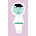 download Inuit Girl clipart image with 135 hue color