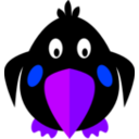 download Black Bird clipart image with 225 hue color