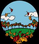 Fall Scene In A Circle A 01