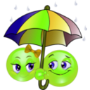 download Rainy Smiley Emoticon clipart image with 45 hue color