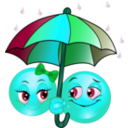 download Rainy Smiley Emoticon clipart image with 135 hue color