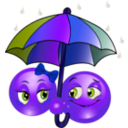 download Rainy Smiley Emoticon clipart image with 225 hue color