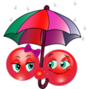 download Rainy Smiley Emoticon clipart image with 315 hue color