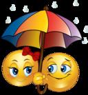 Rainy Smiley Emoticon